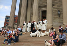 Benedizione dei cani Fotografia Stock Libera da Diritti