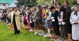 Benedizione di Pasqua baskets_10 Fotografia Stock Libera da Diritti