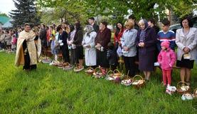 Benedizione di Pasqua baskets_11 Fotografie Stock