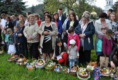 Benedizione di Pasqua baskets_12 Fotografie Stock