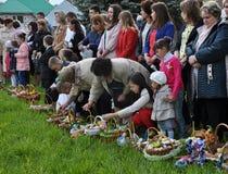 Benedizione di Pasqua baskets_13 Fotografia Stock