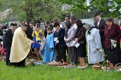 Benedizione di Pasqua baskets_20 Fotografia Stock