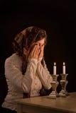 Benedizione sopra le candele Fotografia Stock Libera da Diritti