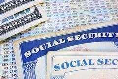 Benefícios de aposentadoria Imagens de Stock