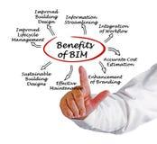 Benefícios de BIM foto de stock royalty free