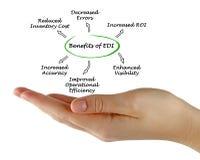 Benefícios de EDI imagens de stock