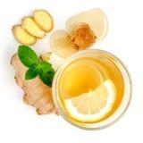 Benefícios de saúde provados de Ginger Can Treat Many Forms da náusea, especialmente doença de manhã? Ginger Contains que uma sub Foto de Stock Royalty Free