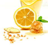 Benefícios de saúde provados de Ginger Can Treat Many Forms da náusea, especialmente doença de manhã? Ginger Contains que uma sub Imagem de Stock
