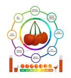 Benefícios de saúde surpreendentes da cereja Imagens de Stock Royalty Free