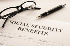Benefícios de segurança social Imagens de Stock