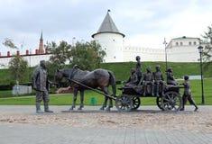 Benefactores del monumento en Kazán Imágenes de archivo libres de regalías