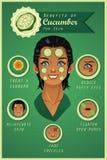 Benefício do pepino para a pele Foto de Stock Royalty Free