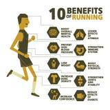 10 benefícios de correr o vetor Imagem de Stock Royalty Free