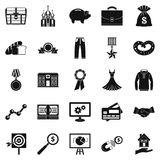 Beneficence icons set, simple style Stock Images