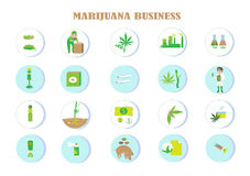Benefici di marijuana illustrazione di stock