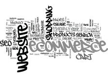 Benefici di Seo For Ecommerce Word Cloud Fotografia Stock