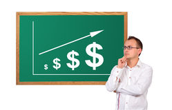 Beneficia el dólar en el escritorio imágenes de archivo libres de regalías