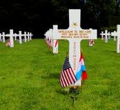 Beneficiario de la medalla de honor en el cementerio y el monumento americanos de Luxemburgo imagen de archivo libre de regalías