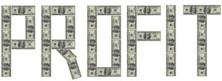 Beneficio Imágenes de archivo libres de regalías