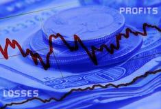 Beneficio y pérdidas stock de ilustración