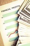 Beneficios financieros imagen de archivo