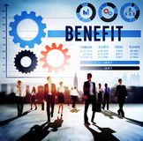 Benefit Assist Charity Claims Income Profit Value Concept Royalty Free Stock Photos