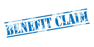 Benefit claim blue stamp Stock Photography