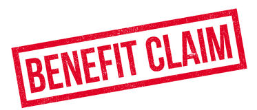 Benefit Claim rubber stamp Stock Photo