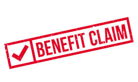 Benefit Claim rubber stamp Royalty Free Stock Photography