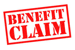 BENEFIT CLAIM Rubber Stamp. BENEFIT CLAIM red Rubber Stamp over a white background Stock Image