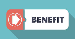 Benefit Concept in Flat Design. Royalty Free Stock Photos