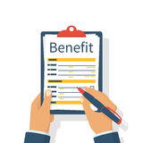 Benefit concept vector Royalty Free Stock Photo