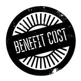 Benefit cost stamp Royalty Free Stock Photo