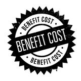 Benefit cost stamp. Grunge design with dust scratches. Effects can be easily removed for a clean, crisp look. Color is easily changed Stock Photography