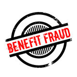 Benefit Fraud rubber stamp Stock Photo