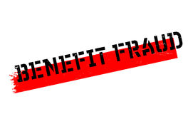 Benefit Fraud rubber stamp Royalty Free Stock Images