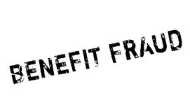 Benefit Fraud rubber stamp Stock Photography
