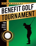 Benefit Golf Tournament Illustration royalty free illustration
