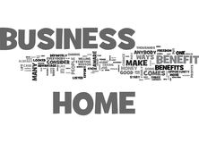Benefit From A Home Business Word Cloud Royalty Free Stock Image