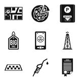 Benefit icons set, simple style Royalty Free Stock Image
