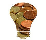 Benefit idea. A conceptual image of the idea of economic benefit Royalty Free Stock Photos