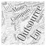 Benefit outsourcing word cloud concept  background Stock Images