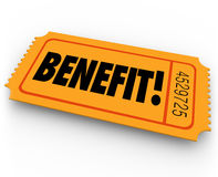 Benefit Raffle Ticket Charity Fundraiser Enter to Win Prize Royalty Free Stock Image