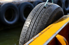The benefit of recycle and  reuse old  tire Royalty Free Stock Photos