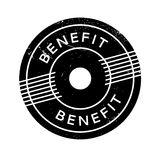 Benefit rubber stamp. Grunge design with dust scratches. Effects can be easily removed for a clean, crisp look. Color is easily changed Stock Photo