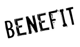 Benefit rubber stamp Royalty Free Stock Photos