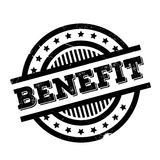 Benefit rubber stamp. Grunge design with dust scratches. Effects can be easily removed for a clean, crisp look. Color is easily changed Royalty Free Stock Images