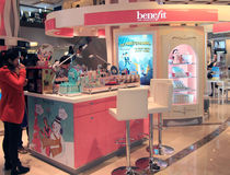 Benefit shop in Hong Kong Stock Photo