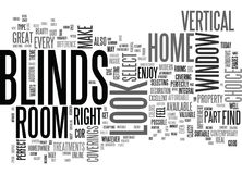 Benefit From The Stylish Look Of Vertical Blinds Word Cloud Royalty Free Stock Photo