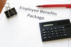 benefits anställdpacken Royaltyfri Bild